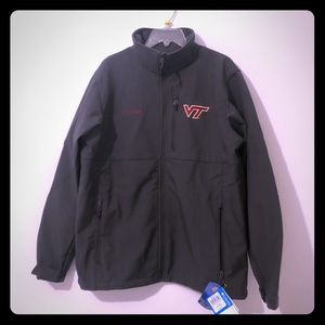 Virginia Tech Columbia soft shell jacket NWT
